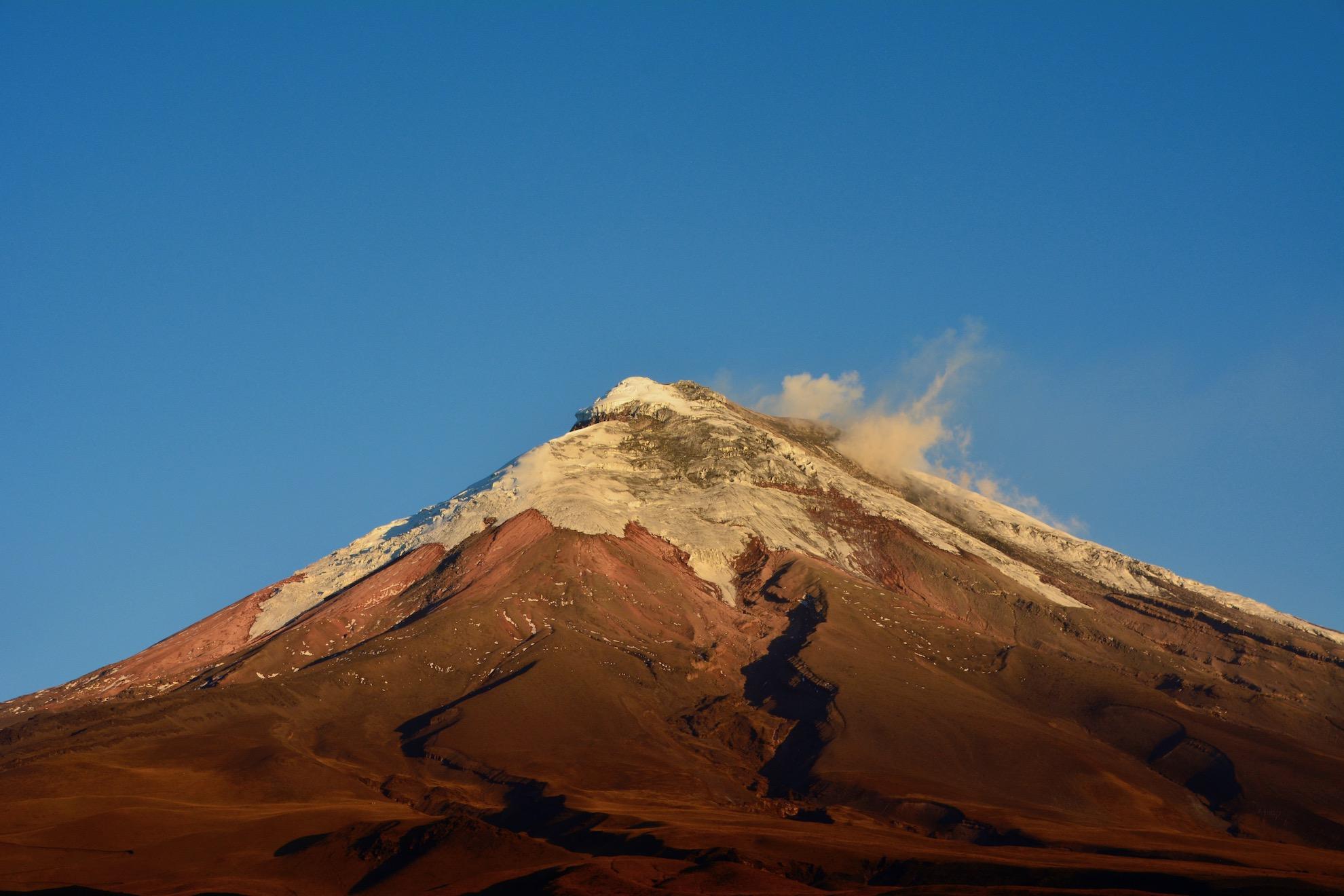 Der Cotopaxi - eines der bekanntesten Symbole der Anden.
